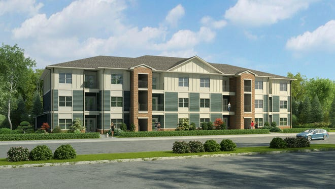 A rendering of Reserve at Raintree, a multifamily development under construction.