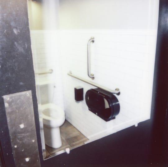 The bathroom inside Not Watson's Kitchen + Bar.