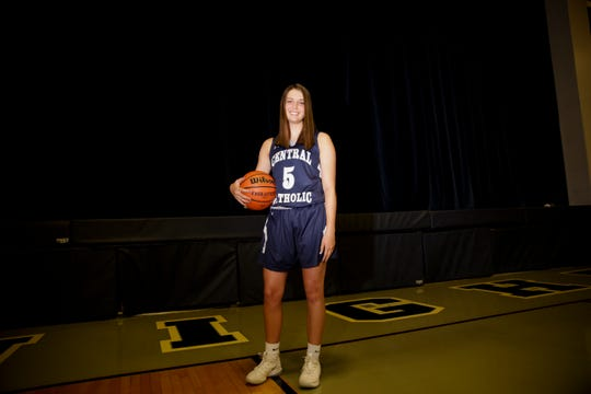 Lexi Thompson led Central Catholic to a sectional championship as a senior and is the Journal & Courier Small School girls basketball Player of the Year.
