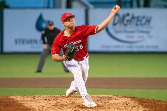 UL redshirt freshman Logan  Savoy went 6.2 innings and got the win against Southeastern Louisiana on Tuesday night at The Tigue.