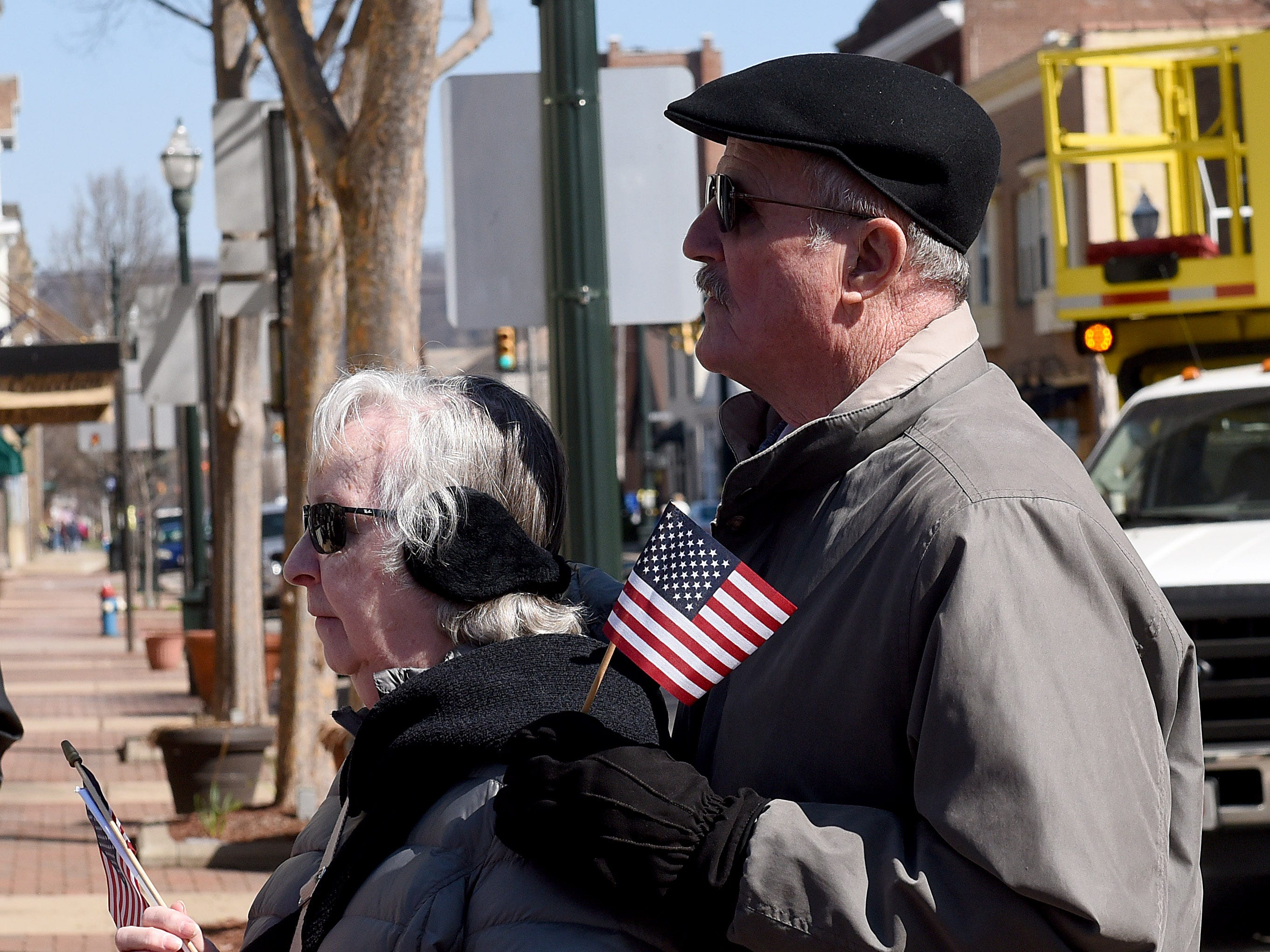 People line the streets of downtown Lancaster to honor and remember U.S. Army Sgt. Joseph Collette.