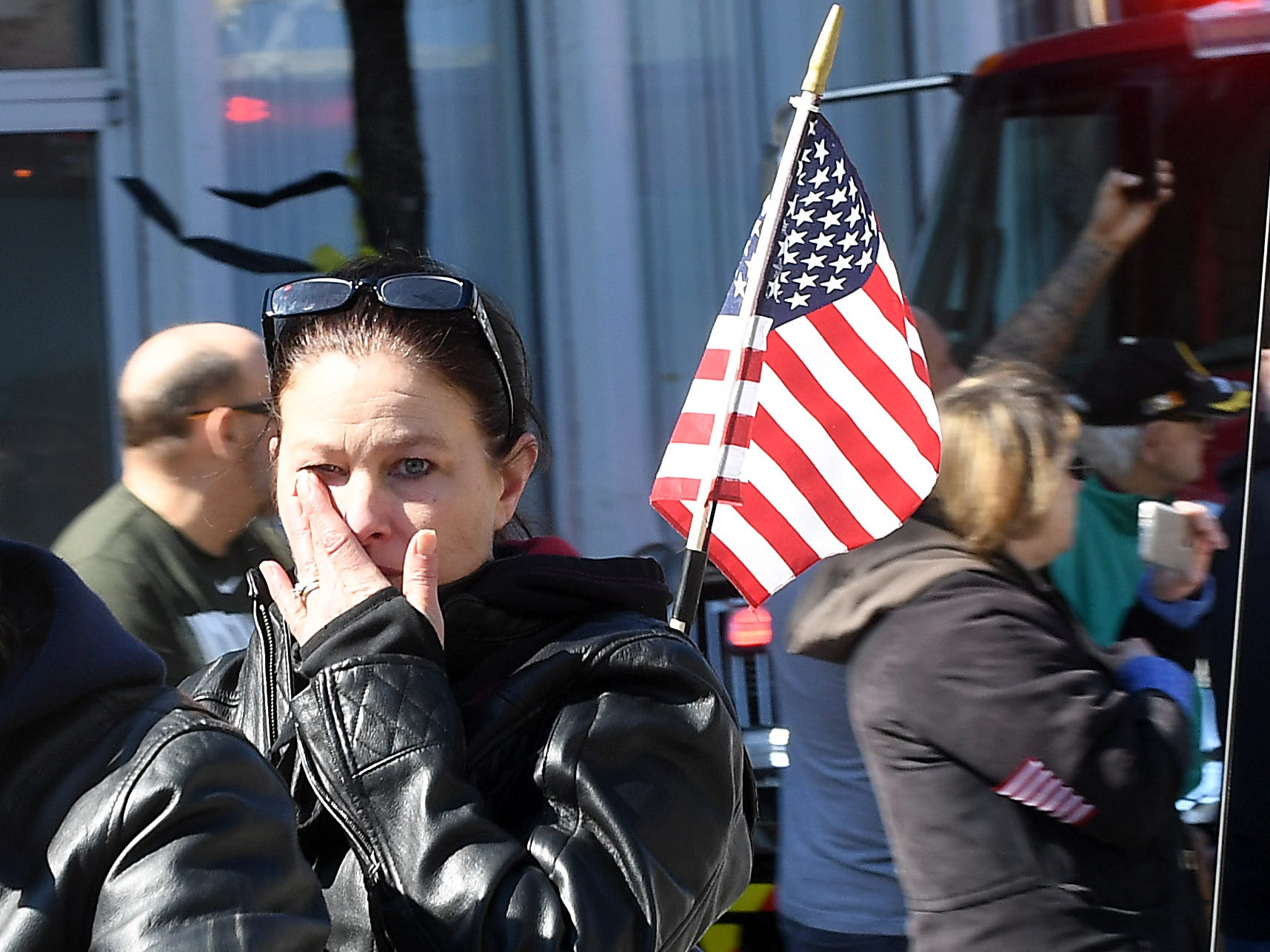 More than 300 motorcyclists ride through Lancaster while escorting the hearse carrying U.S. Army Sgt. Joseph Collette. The procession traveled from Rickenbacker International Airport in Columbus to Lancaster.
