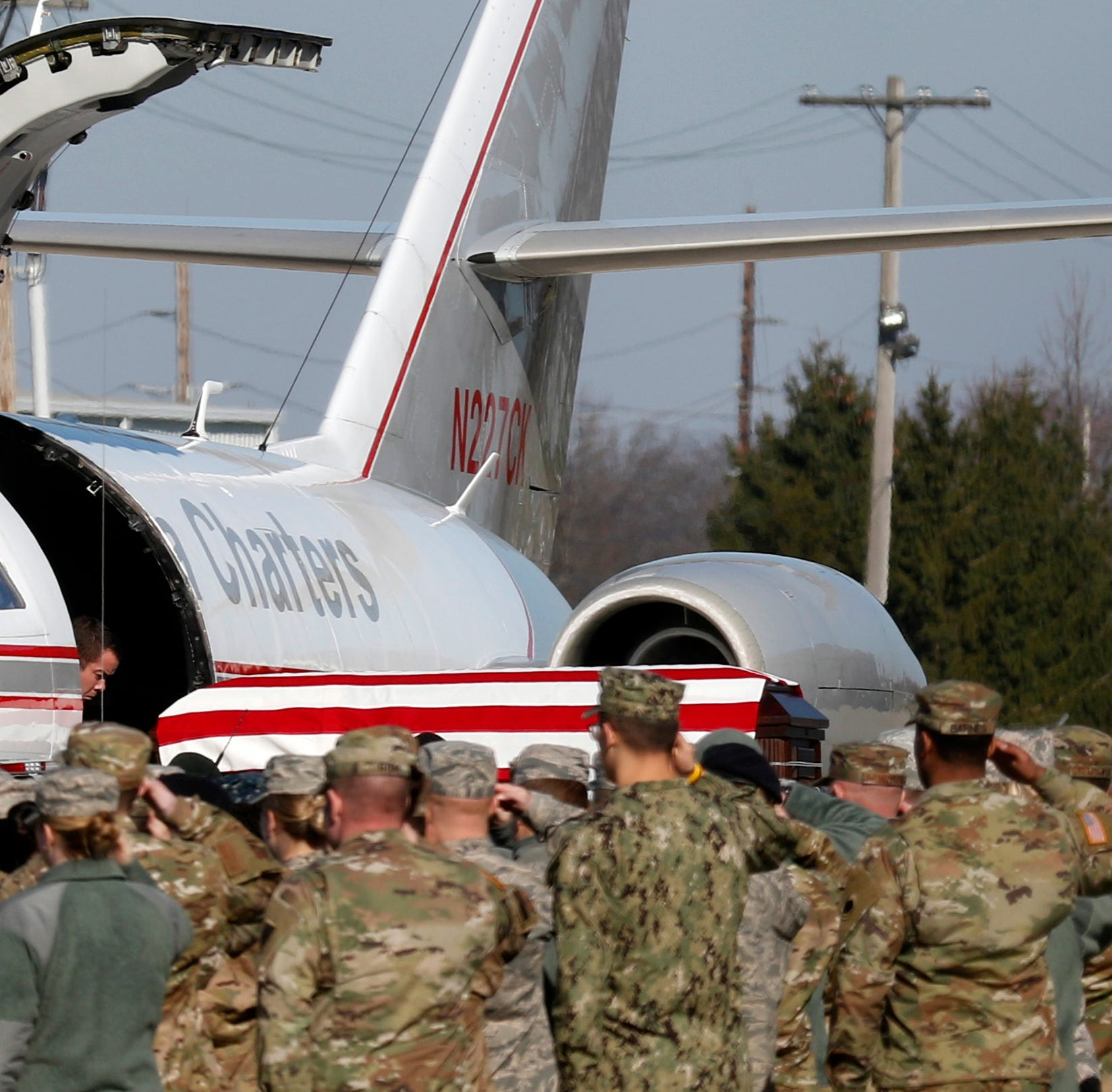 Serviceman killed in Afghanistan last month returns home to hero's welcome