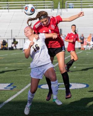Lauren Way (16) scored one of Hartland's four second-half goals in a 4-1 victory over Howell.
