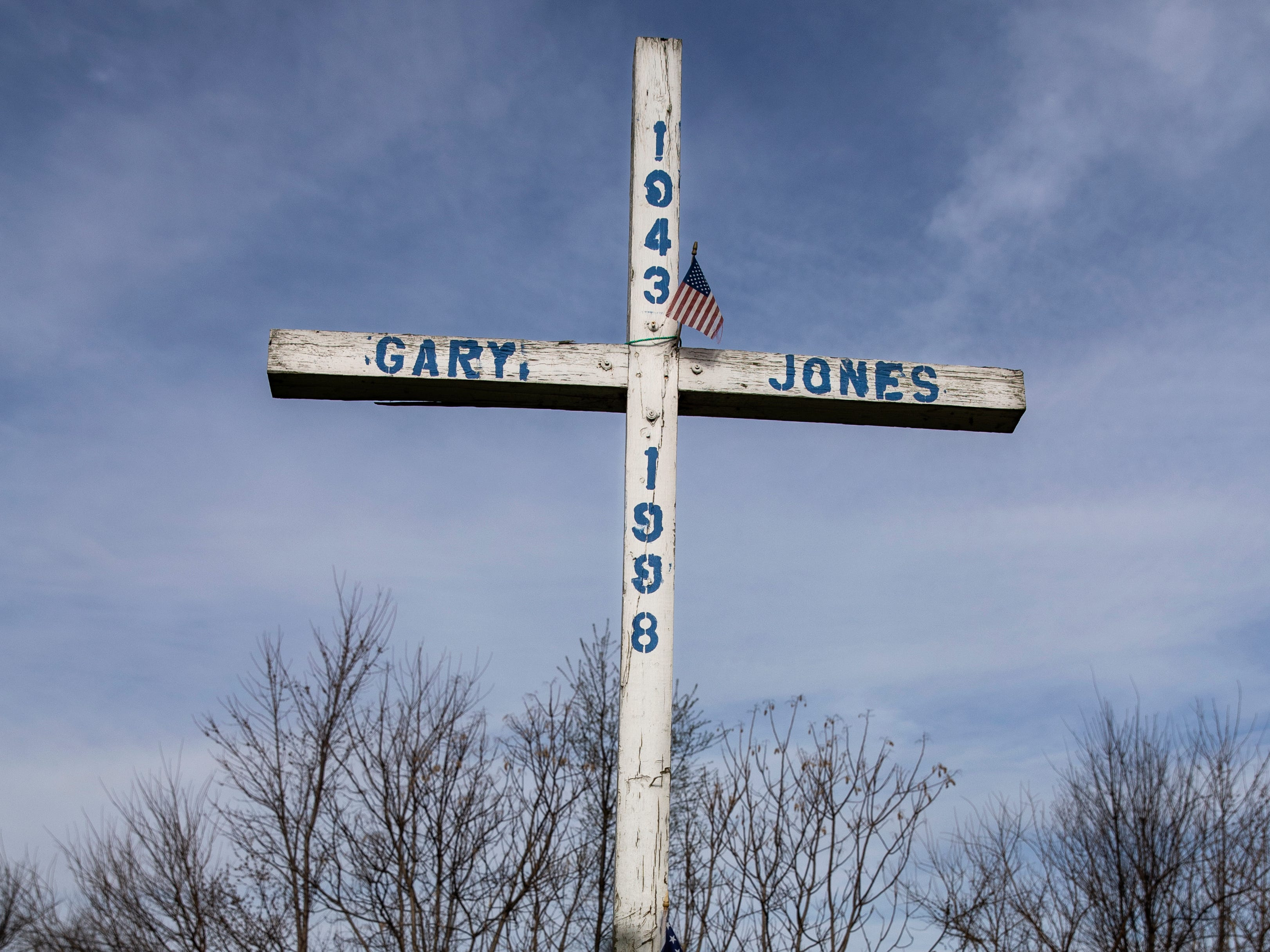 A shrine to Gary Jones who died in 1998 on 29th Street near Garfield. April 2, 2019.