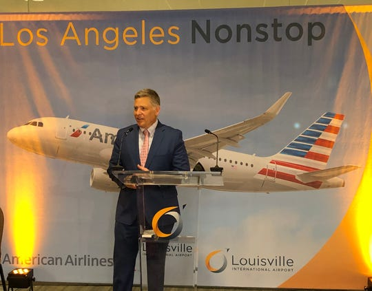 "Louisville Regional Airport Authority Executive Director Dan Mann said Wednesday, April 3, 2019, the new American Airlines direct route between Louisville Muhammad Ali International Airport and Los Angeles International Airport is a ""vote of confidence in the region and SDF."""