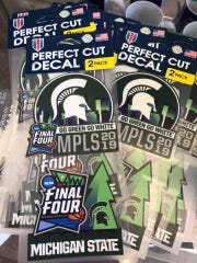 These Final Four decals can be found at the Student Book Store in downtown East Lansing. Most merchandise there ranges in price from $10 to $75.