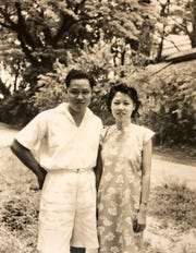Author May Klisch's parents, Tom and Jean Loong, as a young couple in Singapore.