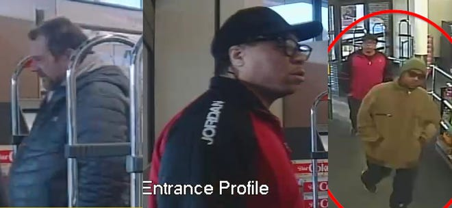 Suspects in eight retail thefts at two Walgreens locations are seen in security camera footage. Milwaukee police said the men stole nearly $1,800 in items from the stores.