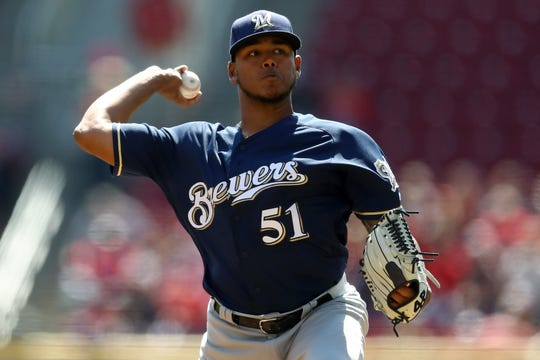 Freddy Peralta threw 100 pitches Wednesday, 84 were fastballs.