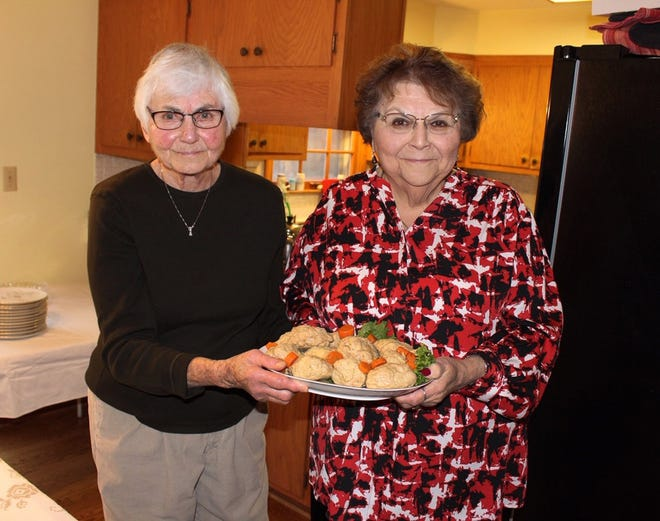 Rita Marcuvitz (left) and Sari Luber get together every year to make gefilte fish from scratch.
