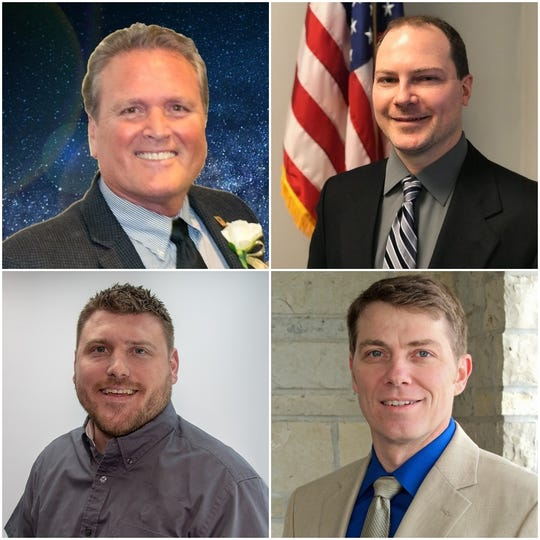 Clockwise from top left: Newman, Walz, Taggart, Tadda