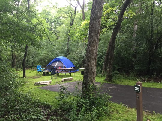 Naga-Waukee Park in Waukesha County has 25 family campsites, 5 group sites and a view of Nagawicka Lake.