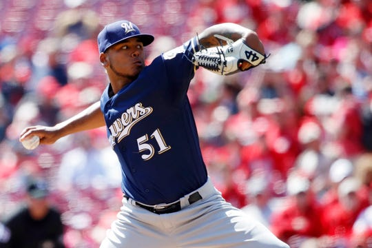 Freddy Peralta allows just two hits over eight innings and struck out 11 hitters on Wednesday,