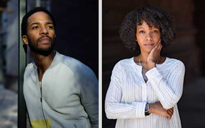 Alabama natives Andre Holland, left, and Imani Perry will discuss their careers on April 11 at the Capri Theatre in Montgomery.