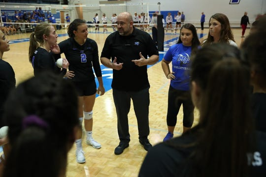 MTSU volleyball coach Chuck Crawford