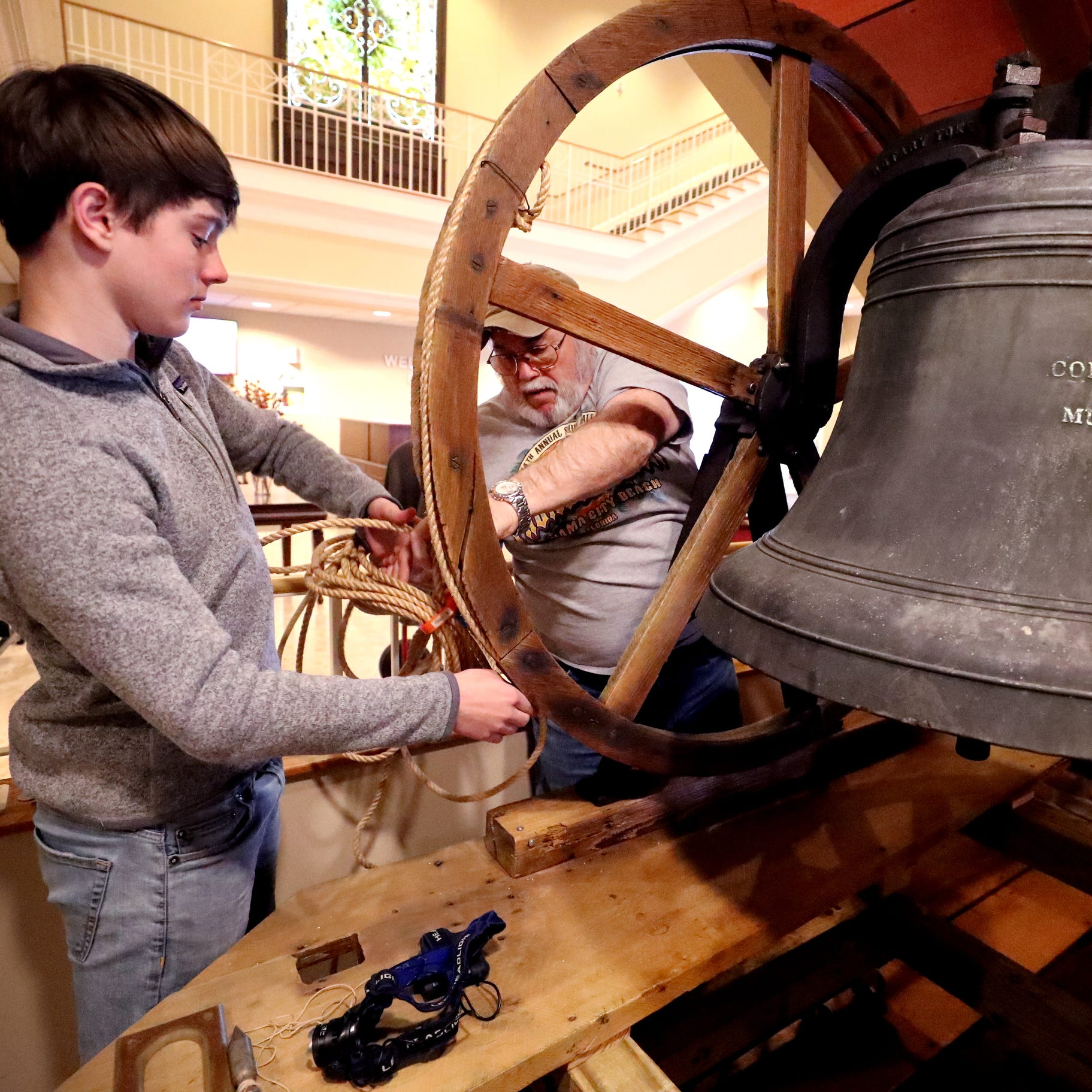 Church bell will ring again: First United Methodist restores historic treasure