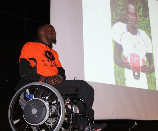 Fletcher Cleaves was the guest speaker at the third-annual Cheatham Cares town hall meeting. Cleaves talked about the dangers of drunk driving and distracted driving.