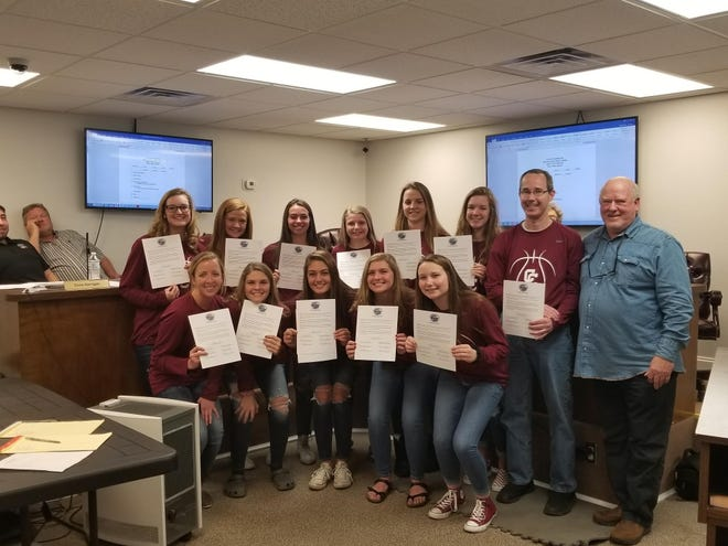 The Town of Ashland City adopted a proclamation Tuesday, April 2, recognizing Cheatham County Central High School's girls basketball team. The team's 43-40 victory made history on March 9.