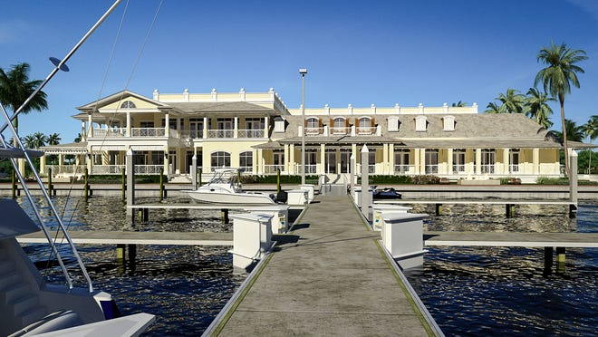 Rendering of how the Naples Yacht Club will look from the backside after an expansion is completed this spring.