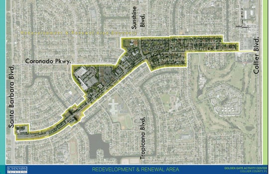 Map of the Golden Gate Parkway Overlay from a Nov. 2018 public meeting.