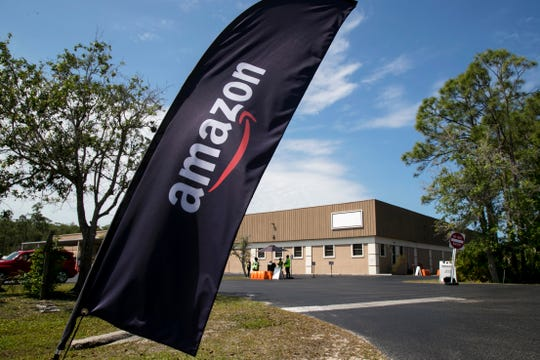 The new Amazon delivery station moved into the old Clive Daniel warehouse at 10016 Bavaria Road in Fort Myers, north of Southwest Florida International Airport.