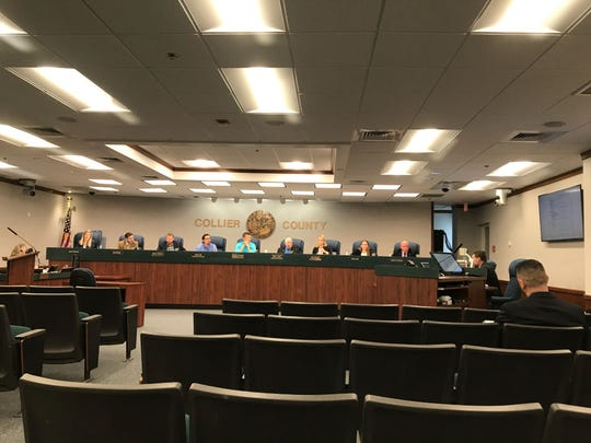 Collier County's new infrastructure surtax citizen oversight committee meets Wednesday, April 3, 2019, at the Collier County commission chamber to discuss projects that will be funded through a recently passed sales tax increase.