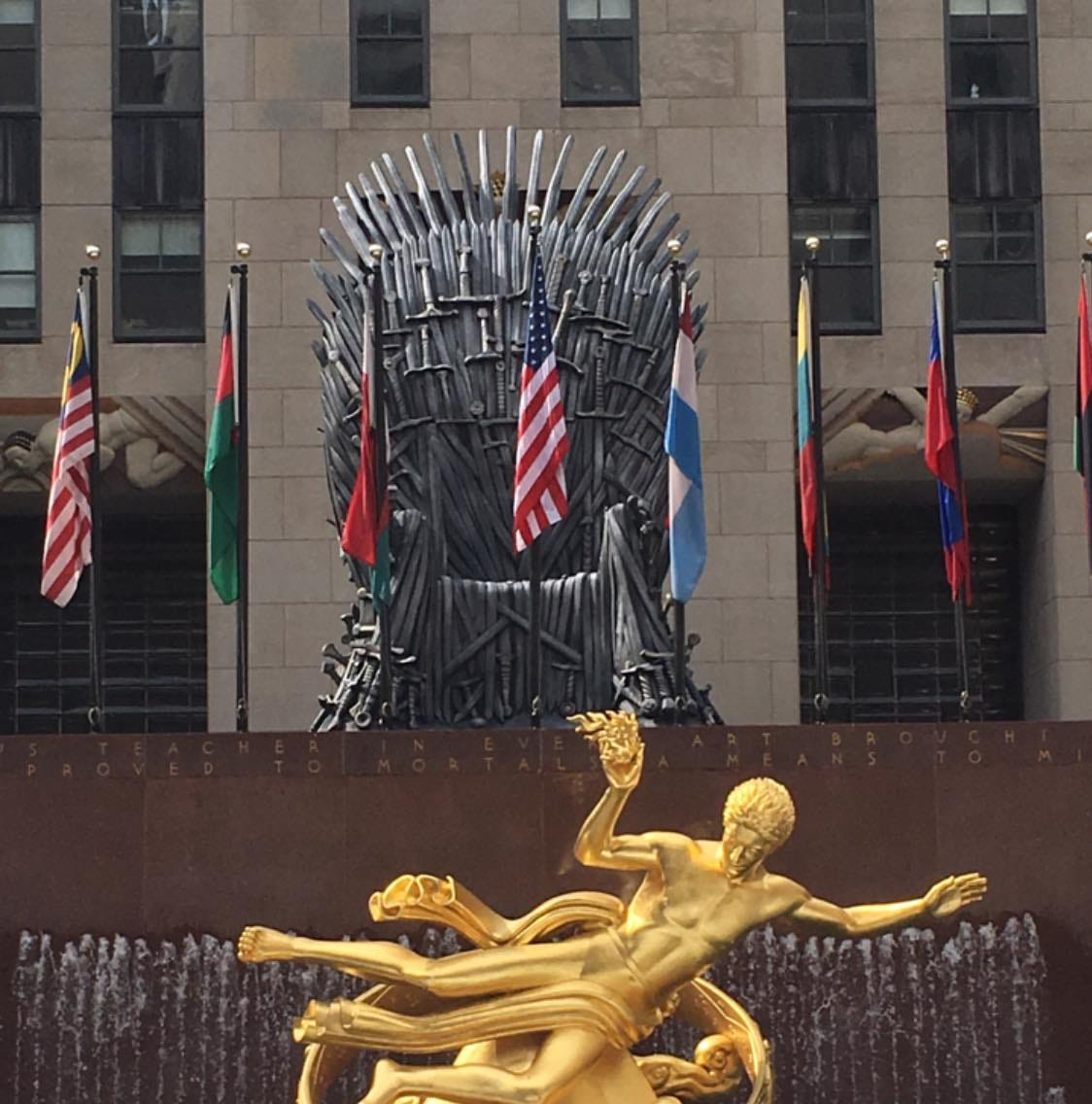Come see a giant Iron Throne at Rockefeller Center ahead of 'Game of Thrones' premiere