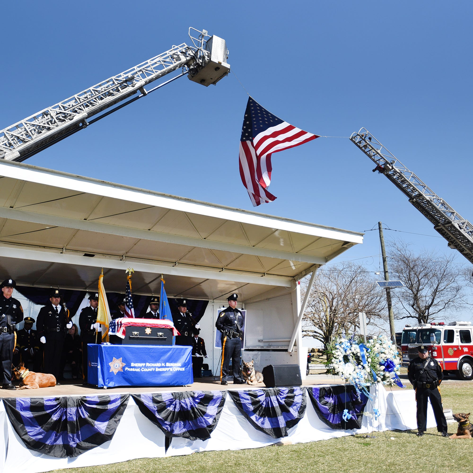 Leo, loyal Passaic County police dog, is honored with formal funeral