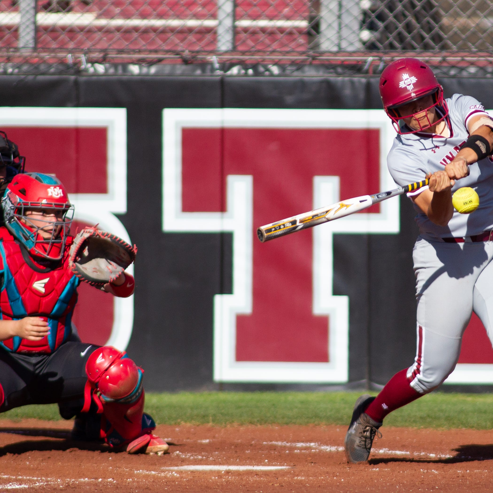 New Mexico State softball sweeps rival New Mexico in doubleheader