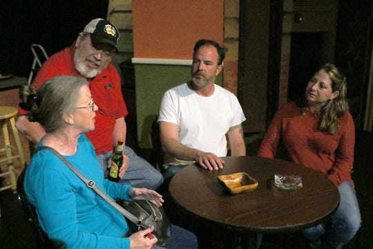 Michelle Holmes, left, Tim Bagley, RJ Macsalka and Joey Herring are featured in the TEA production of 'A Way Back' that opens a two-week run on Friday at the Totah Theater in Farmington.