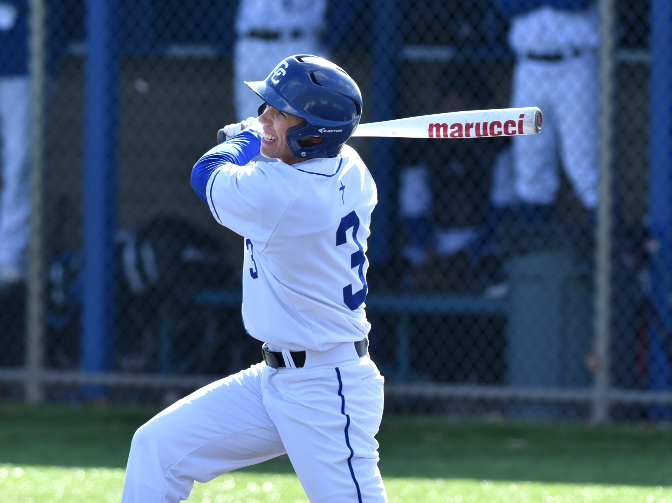 CC pitcher Cooper Donlin also helped his team with a run-scoring hit from the plate on April 3.