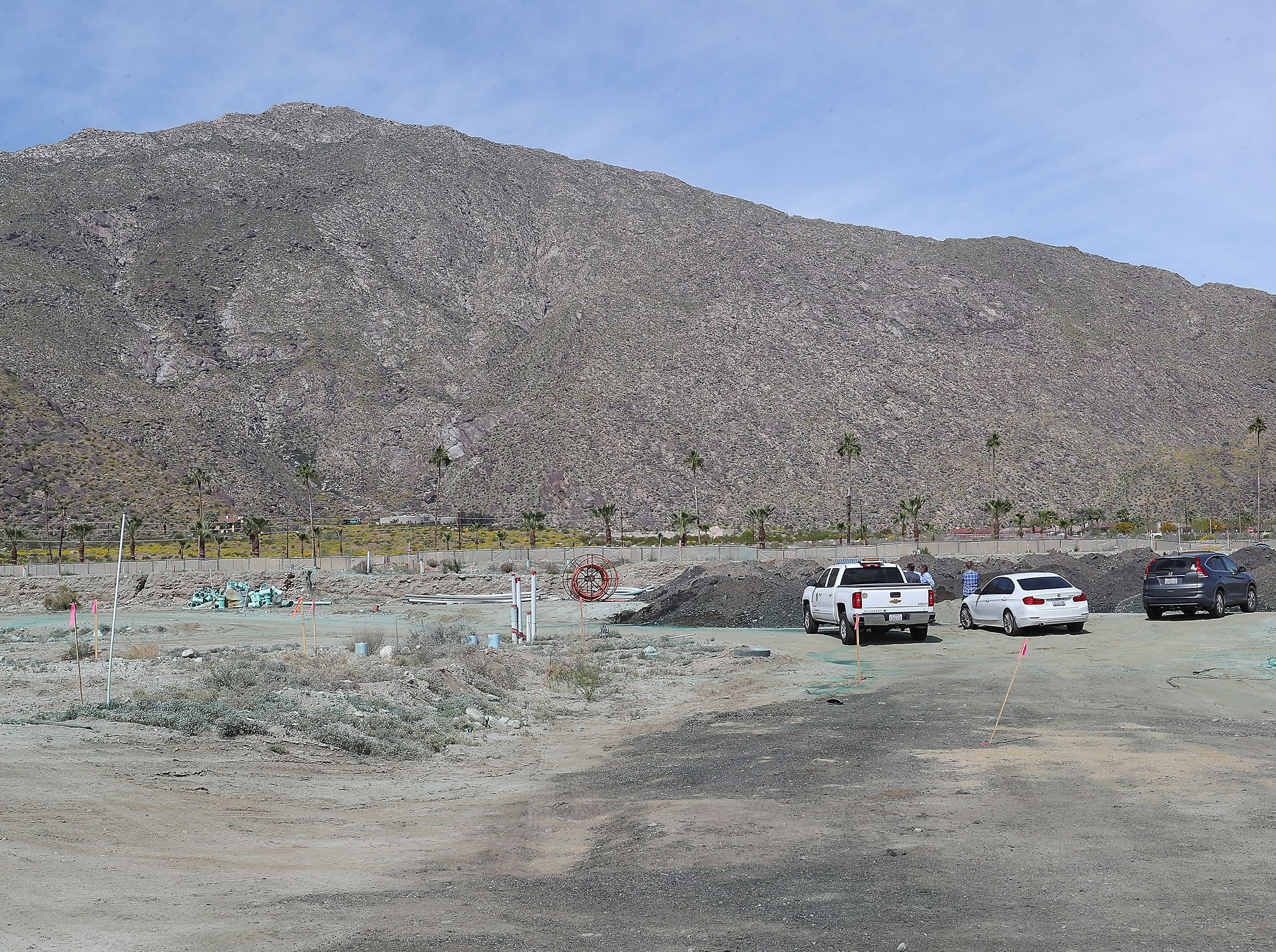 The land has been cleared and leveled for The Cameron residential housing project in Palm Springs, March 3, 2019.
