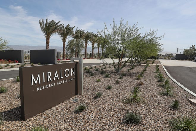 The Miralon residential housing development is under construction in Palm Springs north end, March 3, 2019.