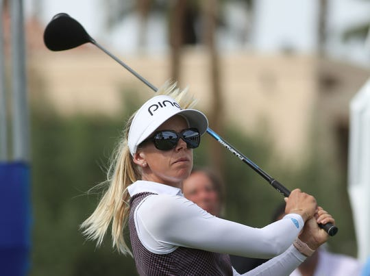 Defending champion Pernilla Lindberg missed the cut in the ANA Inspiration Friday by two shots