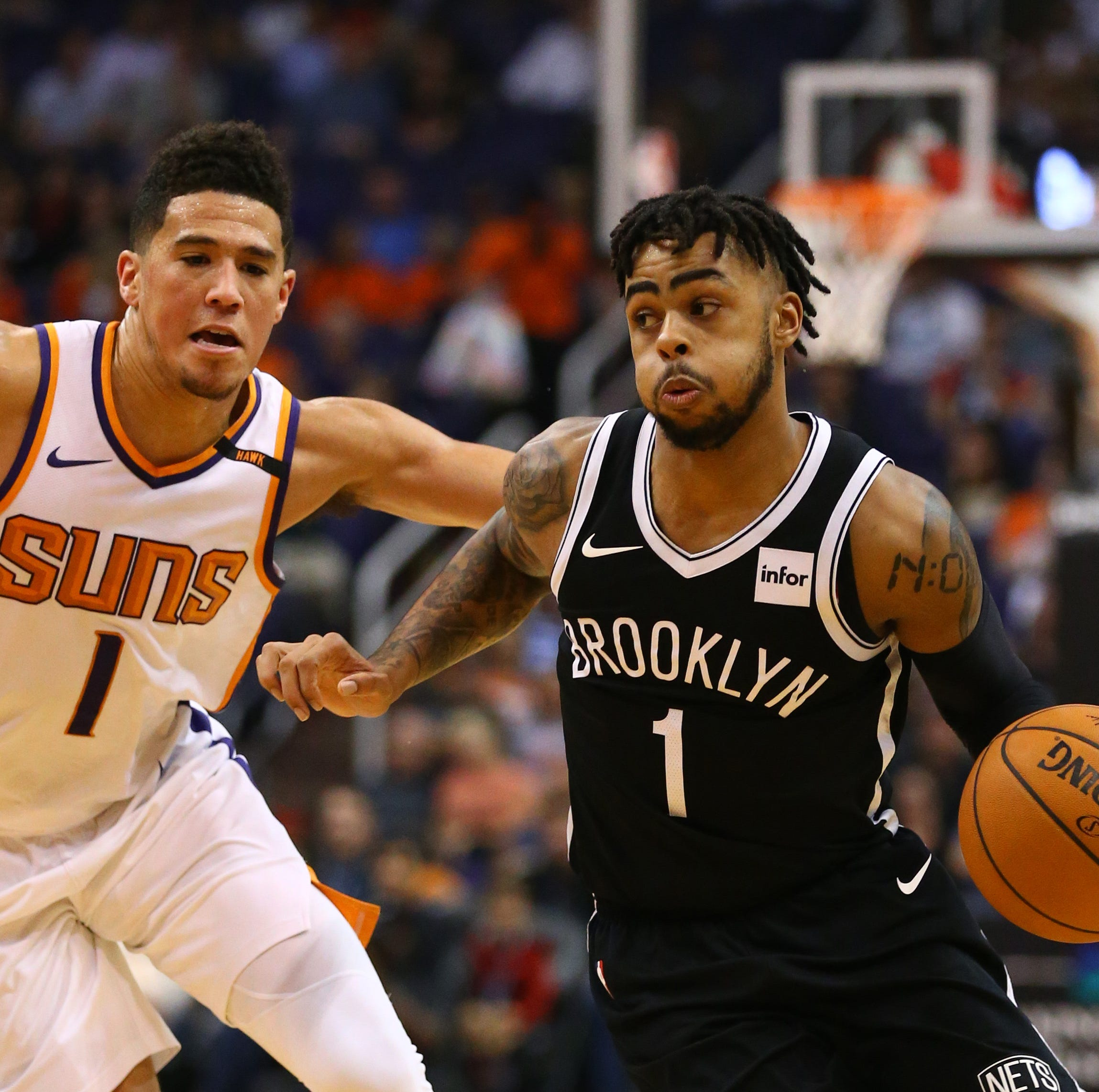 Brooklyn Nets' D'Angelo Russell responds to Devin Booker, Phoenix Suns free agency rumors