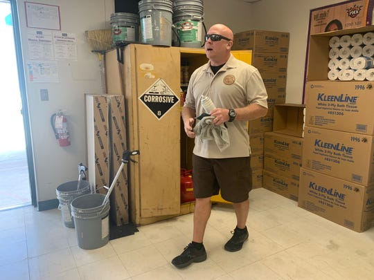 """Don Killingsworth, custodian at Sevilla WestElementary School in Phoenix, is one of 10 finalists for """"custodian of the year,"""" a national contest."""