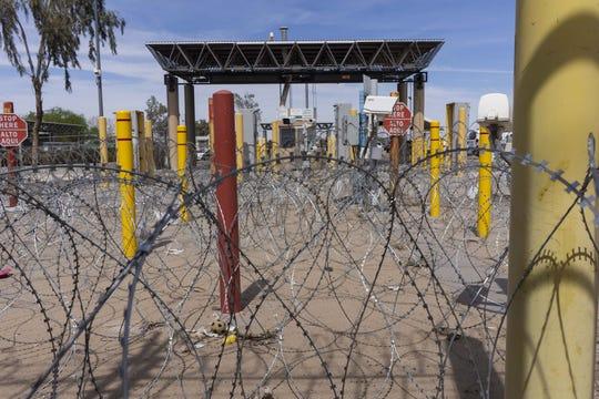 The border at San Luis Rio Colorado, Mexico, and San Luis, Arizona on April 2, 2019.