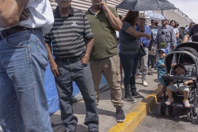 At the border in San Luis Rio Colorado, Mexico, and San Luis, Arizona on April 2, 2019.