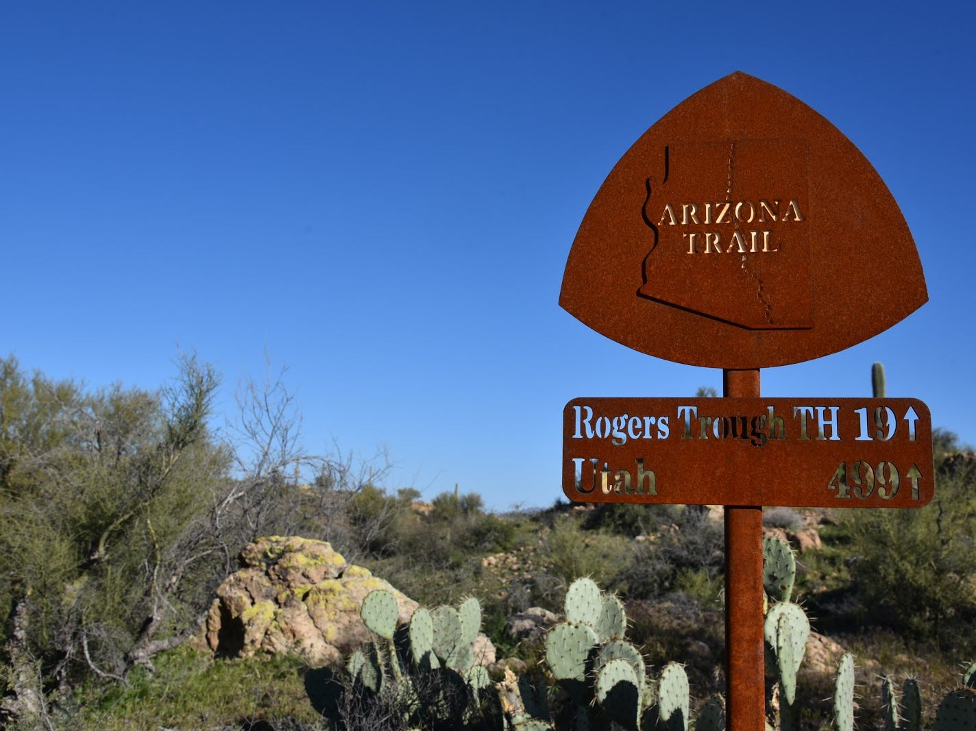 The new Arnett Canyon Trail connects with the Arizona Trail.