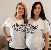 Former ASU women's basketball player Jill Noe, right, is carrying twins as a surrogate for her twin sister Whitney.
