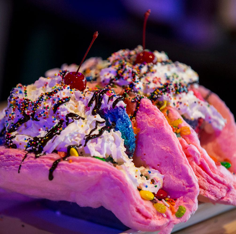 We tried the 'mythical' Unicorn Cotton Candy Taco. And honestly, it's pretty good