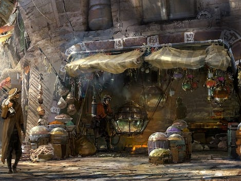 Kat Saka's Kettle inside Satar Wars: Galaxy's Edge will offer sweet and savory popcorn to those visiting Black Spire Outpost at Disneyland and Disney World.