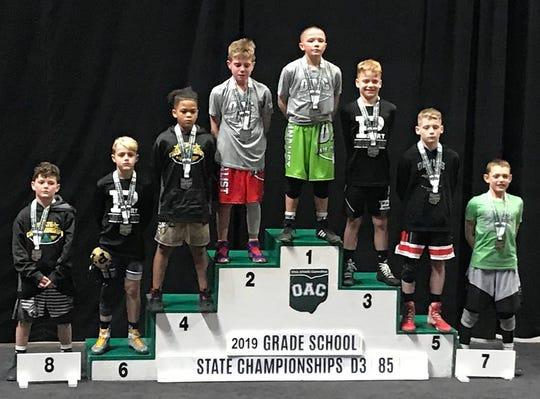 Port Clinton's Malakii Pinkelton won a championship at the OAC state tourney.