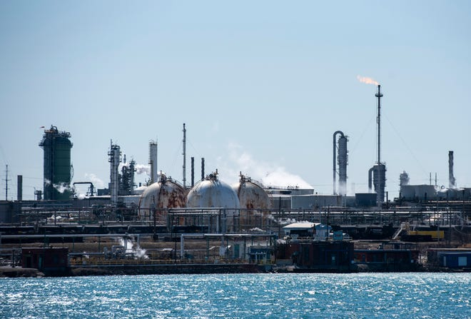 Alarms could be heard from Imperial's Sarnia facility in Canada Friday evening after a minor hydrocarbon leak at the facility.