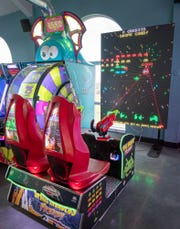 There are more than 30 arcade games at White Rose at Bridgewater including this large-screen Space Invaders game.