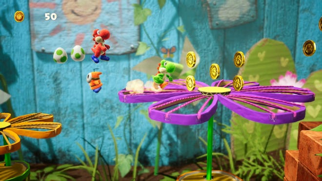 Yoshi's Crafted World for the Nintendo Switch.