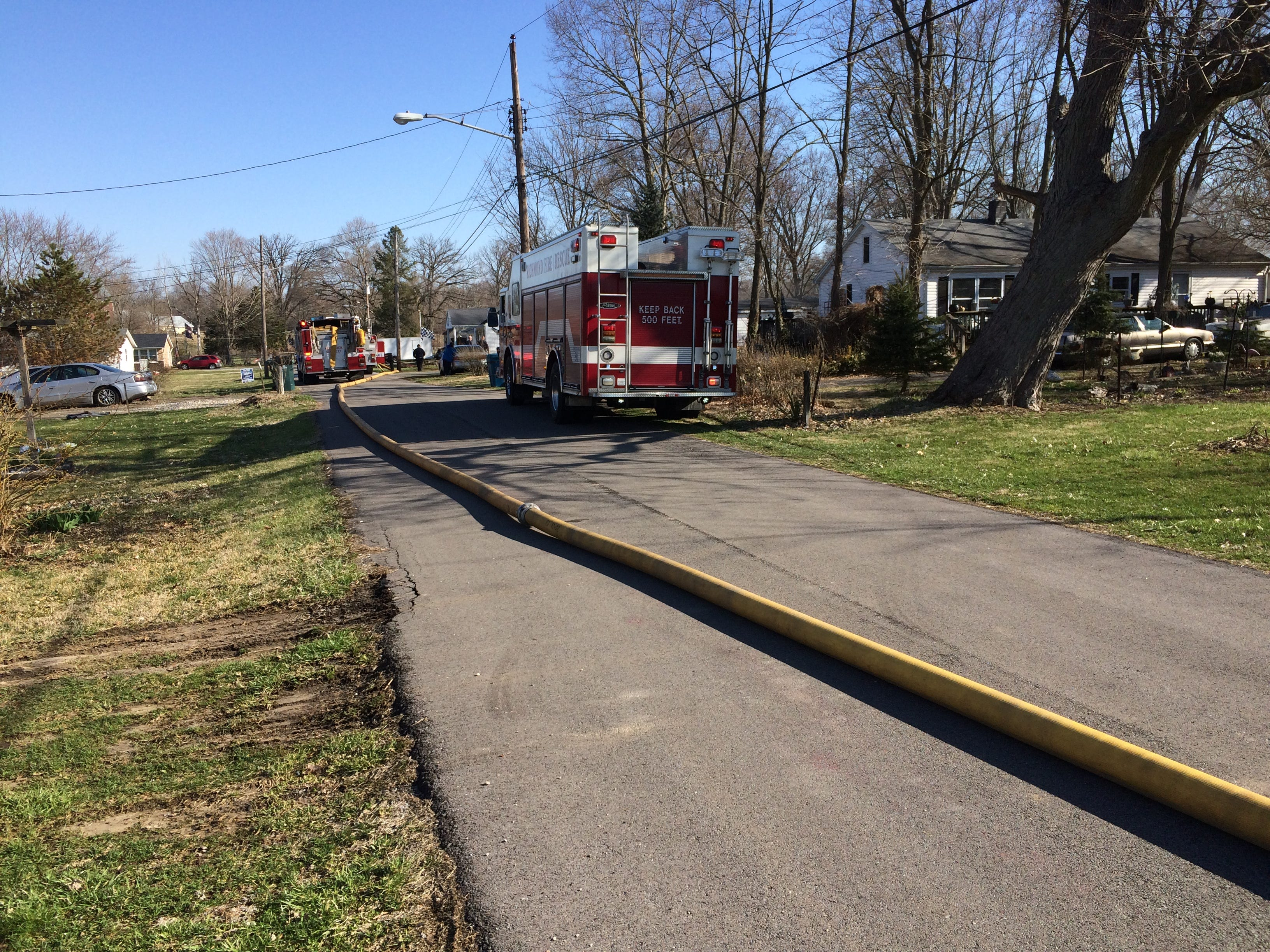 Richmond Fire Department was called to a house fire Wednesday morning in the 2100 block of South 11th Street.