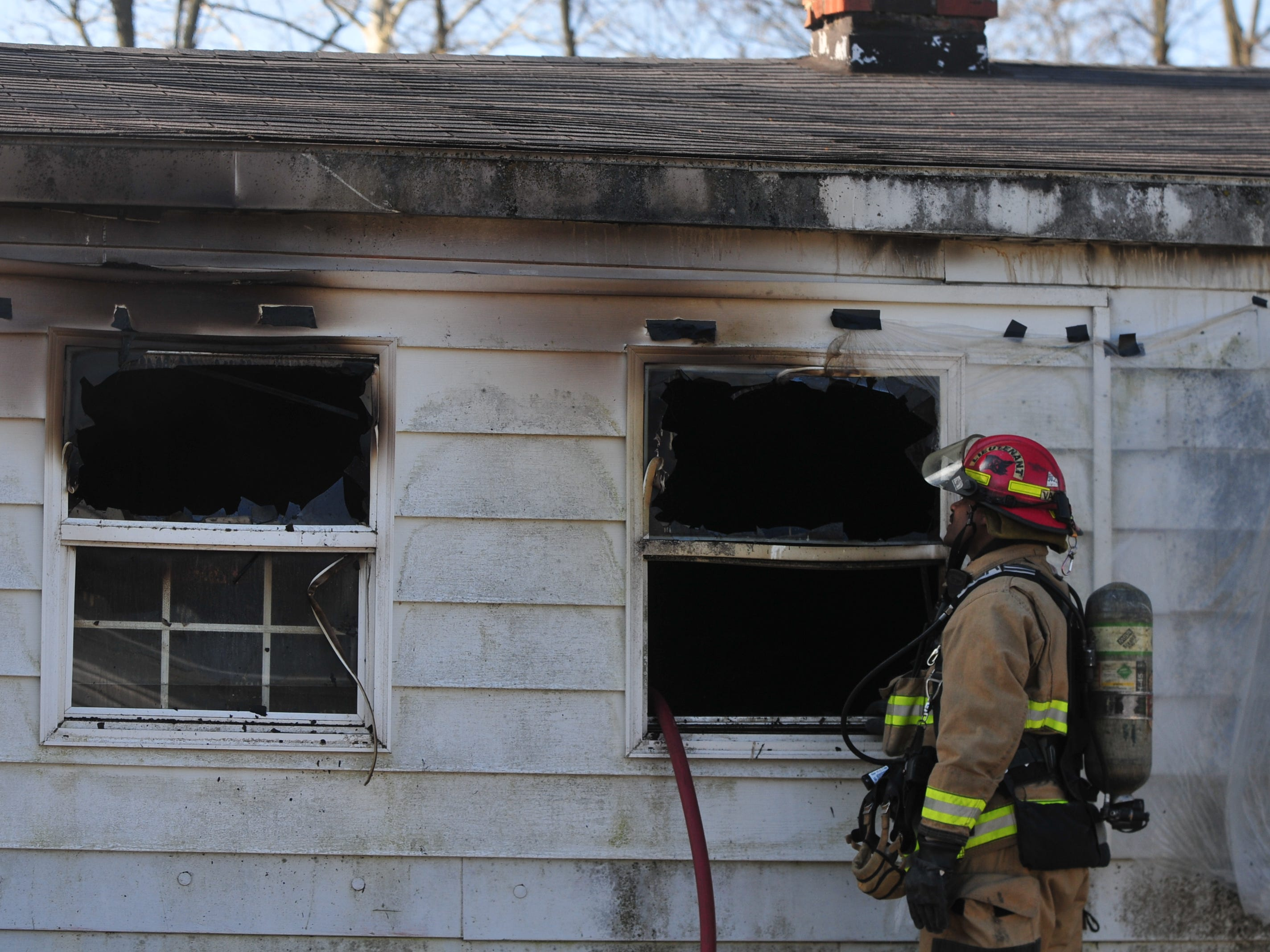 Richmond Fire Department personnel extinguished a fire Wednesday morning at a house in the 2100 block of South 11th Street.
