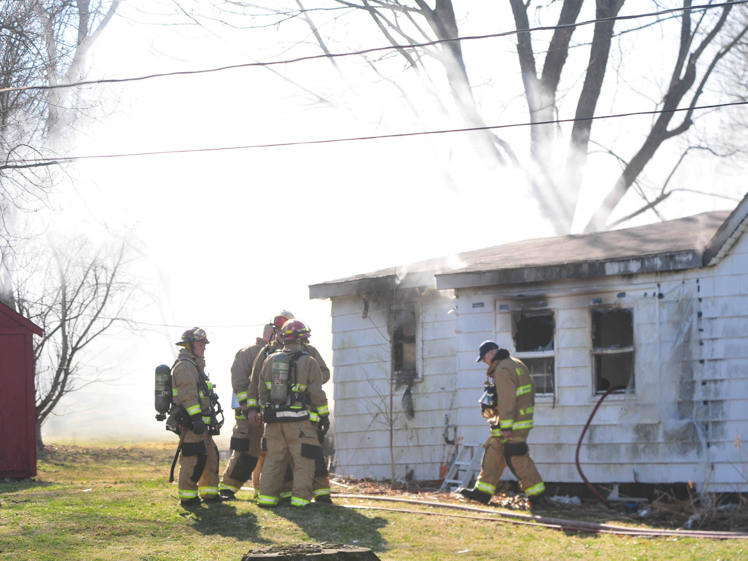 Richmond Fire Department personnel extinguished a house fire Wednesday morning in the 2100 block of South 11th Street.